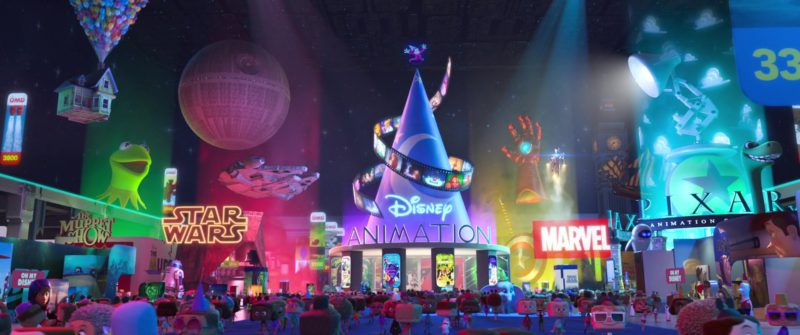 The Muppet Show, Star Wars, Disney Animation, Marvel and Pixar in Ralph Breaks the Internet (2018) - Animation Movie Product Placement