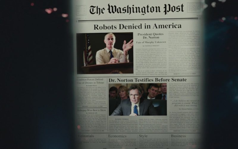 The Washington Post Newspaper in RoboCop (1)