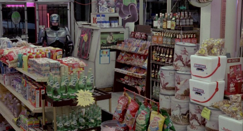 Tide, Perrier Water, Bud Light in RoboCop (1987) Movie Product Placement