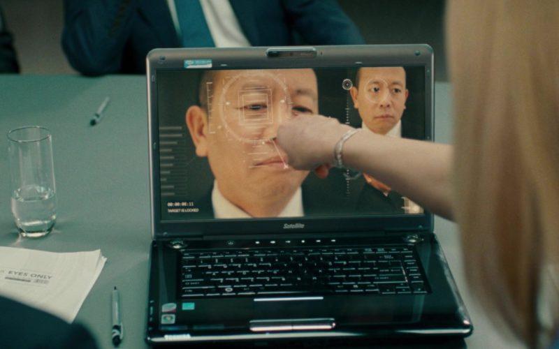 Toshiba Satellite Laptop and Skype Sticker in Johnny English Reborn