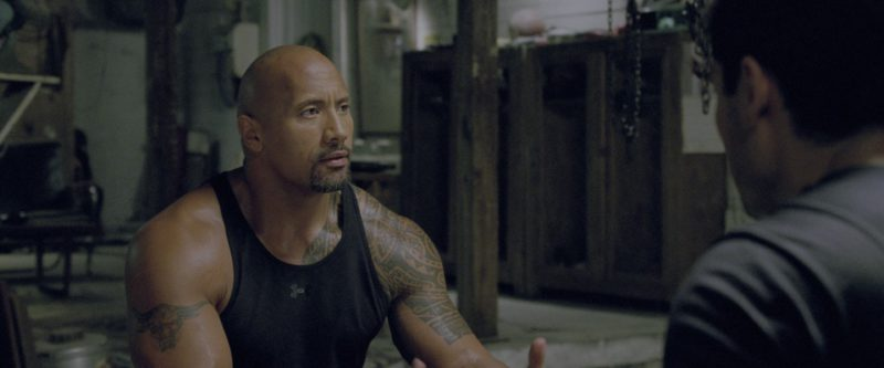 Under Armour Black Tank Top Worn by Dwayne Johnson in G.I. Joe: Retaliation (2013) - Movie Product Placement