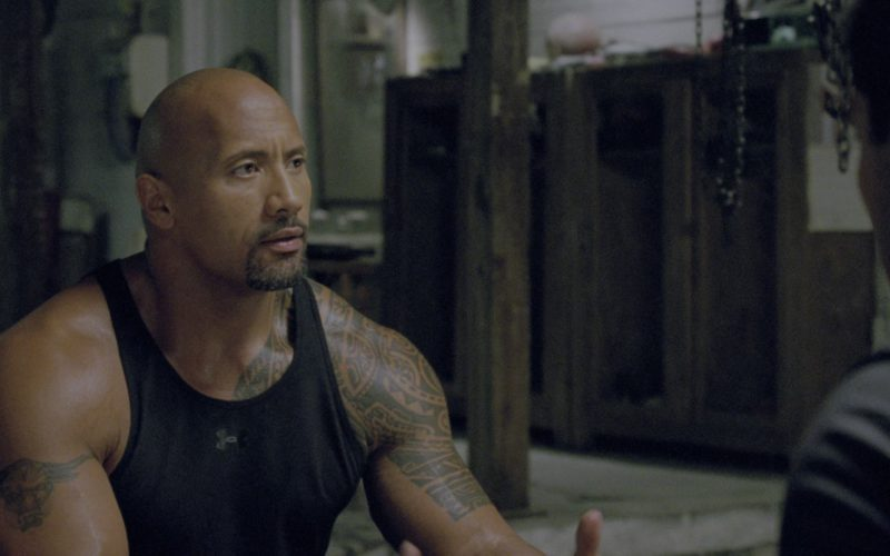Under Armour Black Tank Top Worn by Dwayne Johnson in G.I. Joe Retaliation