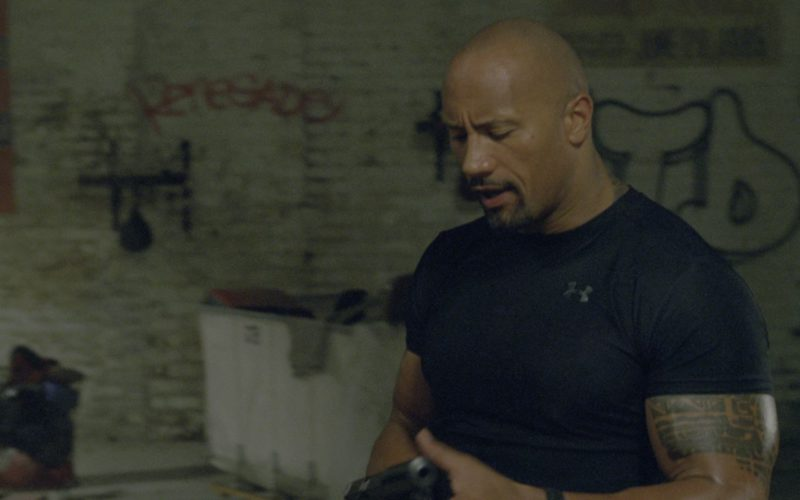 Under Armour Black Tee Worn by Dwayne Johnson in G.I. Joe Retaliation (1)