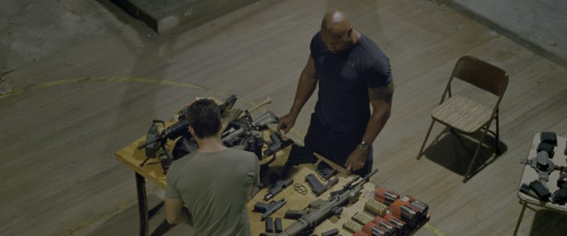 Under Armour Black Tee Worn by Dwayne Johnson in G.I. Joe: Retaliation (2013) - Movie Product Placement