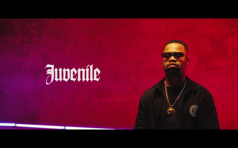"Versace Men's Black Jacket and Gold Necklace Worn by Juvenile in ""Just Another Gangsta"" (1)"