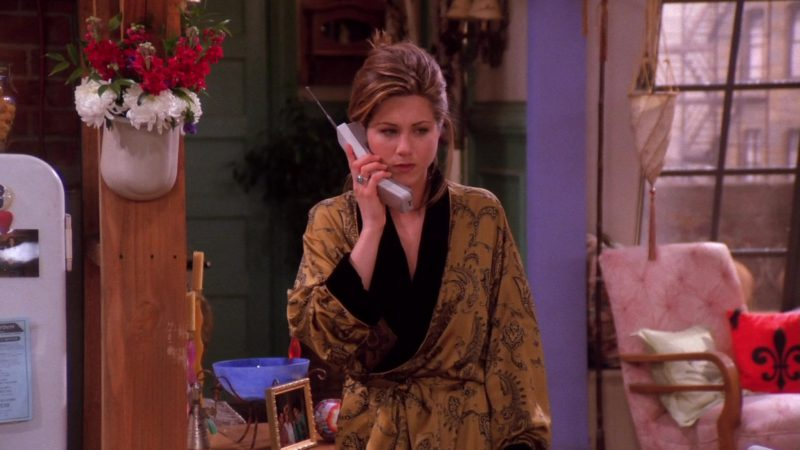"""AT&T Telephone Used by Jennifer Aniston (Rachel Green) in Friends Season 1 Episode 17 """"The One with Two Parts: Part 2"""" (1995) TV Show Product Placement"""