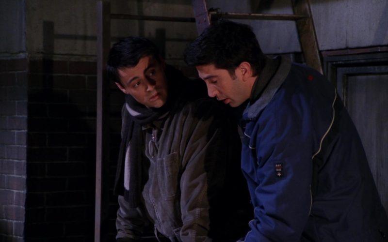 Abercrombie & Fitch 1892 Blue Jacket Worn by David Schwimmer (Ross Geller) in Friends Season 7 Episode 12 (2)