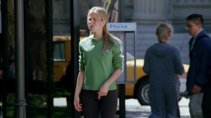 """Adidas Hoodie Worn by Jennifer Aniston (Rachel Green) in Friends Season 6 Episode 7 """"The One Where Phoebe Runs"""" (1999) - TV Show Product Placement"""
