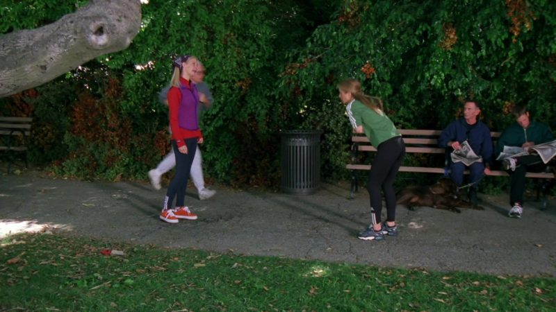 "Adidas Leggings Worn by Jennifer Aniston (Rachel Green) in Friends Season 6 Episode 7 ""The One Where Phoebe Runs"" (1999) - TV Show Product Placement"