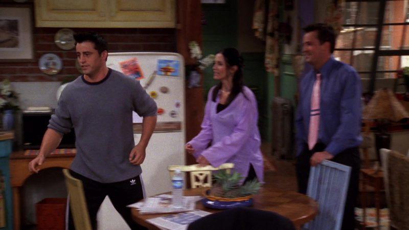 "Adidas Track Pants Worn by Matt LeBlanc (Joey Tribbiani) in Friends Season 6 Episode 2 ""The One Where Ross Hugs Rachel"" (1999) - TV Show Product Placement"