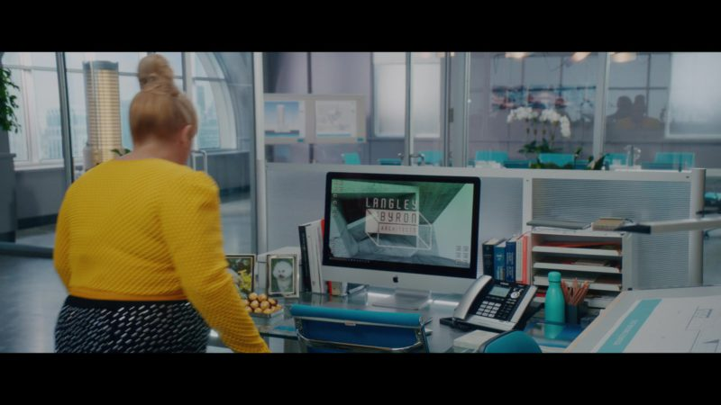 Apple iMac Computer and VTech Telephone in Isn't It Romantic (2019) Movie