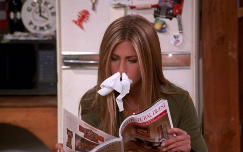 Architectural Digest Magazine Held by Jennifer Aniston (Rachel Green) in Friends Season 5 Episode 4 (2)