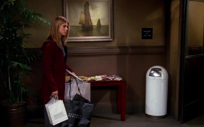 Barneys New York Store Paper Bag Held by Jennifer Aniston (Rachel Green) in Friends