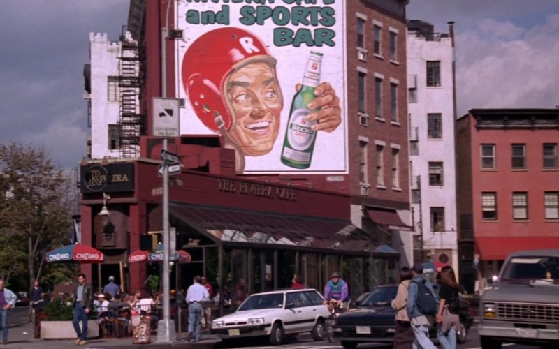 Beck's Beer Billboard and Cinzano Umbrellas in Friends Season 5 Episode 21