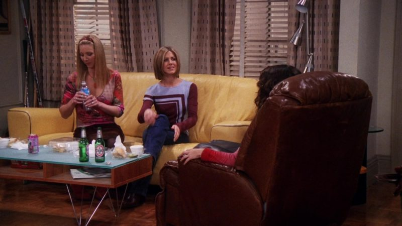 """Beck's Beer in Friends Season 7 Episode 7 """"The One With Ross' Library Book"""" (2000) TV Show Product Placement"""
