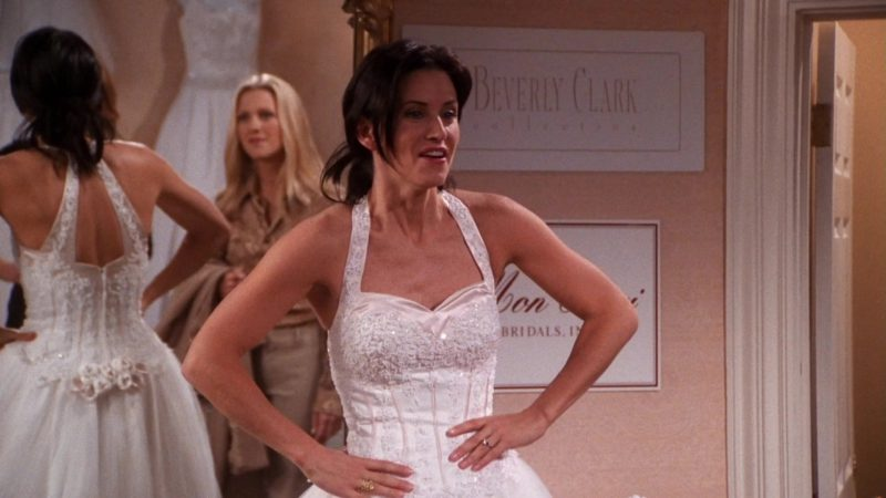 "Beverly Clark Collections in Friends Season 7 Episode 17 ""The One With the Cheap Wedding Dress"" (2001) TV Show Product Placement"