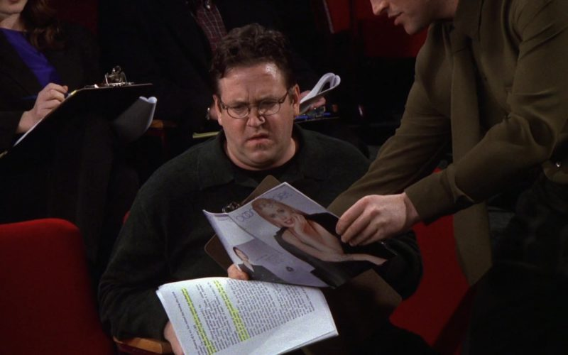 Bloomingdale's Store Catalog Held by Matt LeBlanc (Joey Tribbiani) in Friends Season 5 Episode 13 (1)