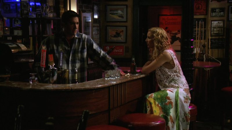 """Budweiser, Bud Light and Coca-Cola Sign in Friends Season 3 Episode 6 """"The One with the Flashback"""" (1996) - TV Show Product Placement"""