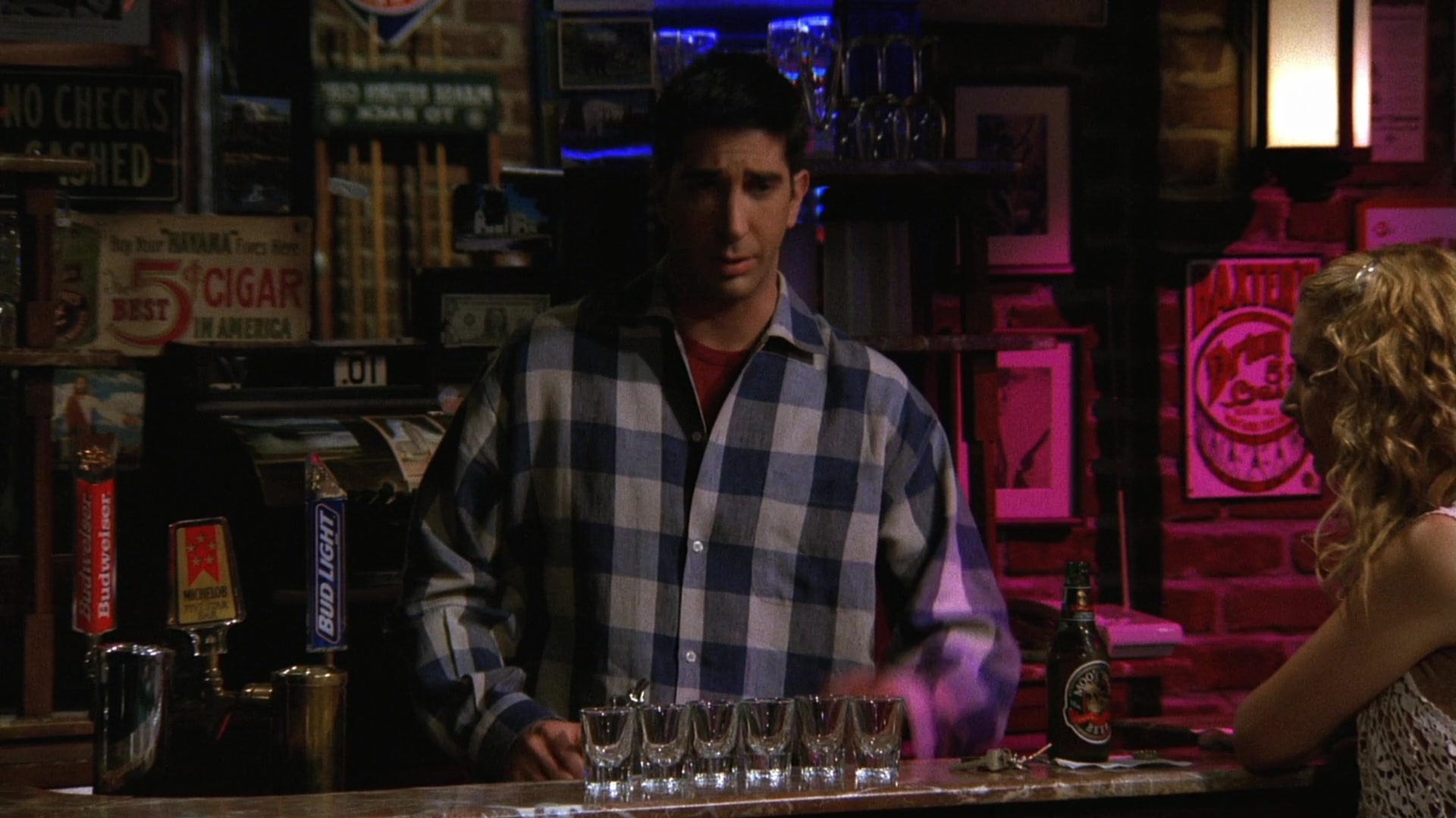 "Budweiser and Bud Light in Friends Season 3 Episode 6 ""The"