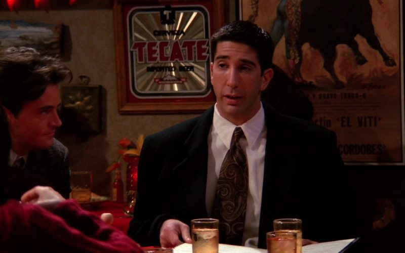 Cerveza Tecate Imported Beer Sign in Friends Season 1 Episode 10 (2)