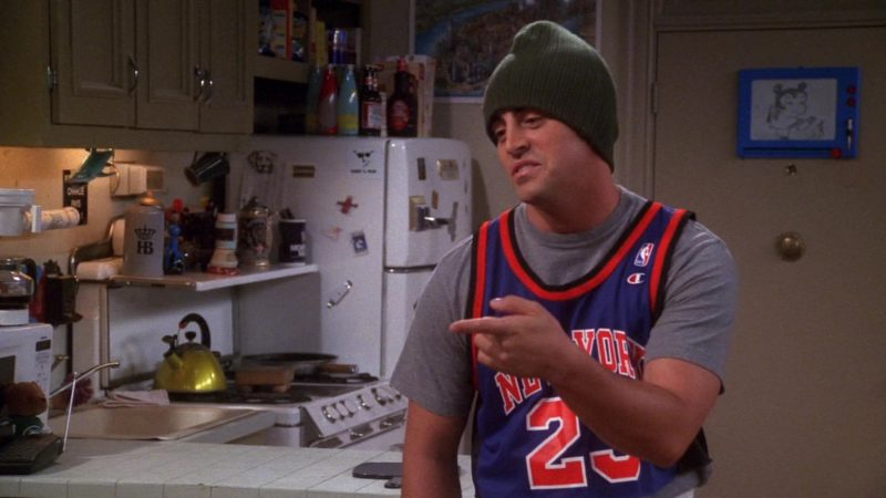 "Champion NBA Jersey Worn by Matt LeBlanc (Joey Tribbiani) in Friends Season 7 Episode 1 ""The One With Monica's Thunder"" (2000) TV Show"