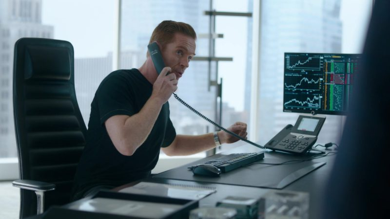 """Cisco Telephone Used by Damian Lewis (Bobby Axelrod) in Billions Season 4 Episode 2 """"Arousal Template"""" (2019) - TV Show Product Placement"""