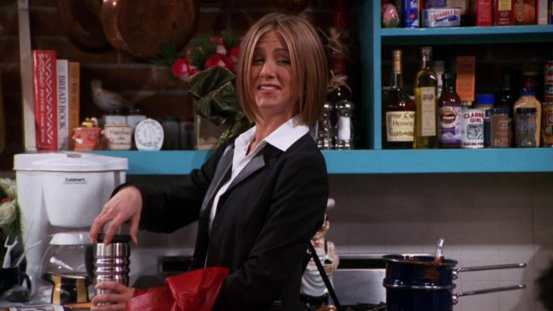 "Cuisinart Coffee Machine Used by Jennifer Aniston (Rachel Green) and Hennessy Cognac in Friends Season 7 Episode 9 ""The One with All the Candy"" (2000) - TV Show Product Placement"