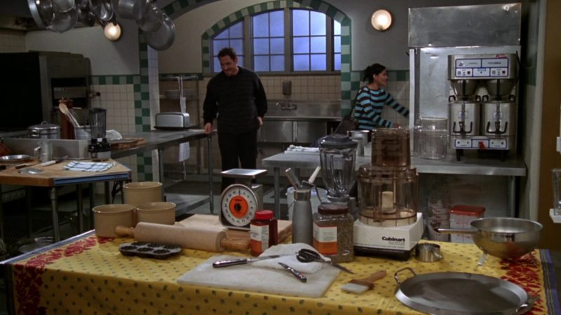 """Cuisinart Food Processor (DLC-X) in Friends Season 3 Episode 21 """"The One With a Chick and a Duck"""" (1997) TV Show Product Placement"""