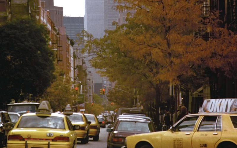 DKNY Logo Taxi Advertising in Friends Season 2 Episode 1