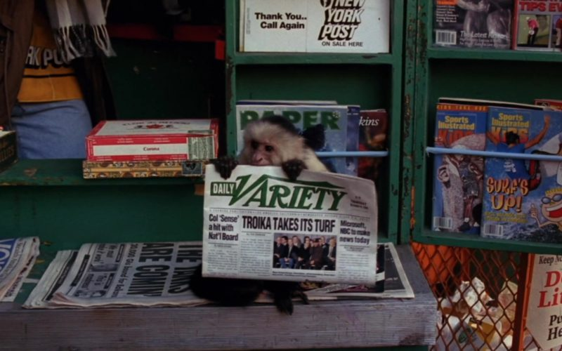 Daily Variety Newspaper Held by Monkey, New York Post, Sports Illustrated Kids in Friends