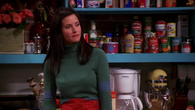 """Dijon Grey Poupon Mustard, Contadina, ShariAnn's Organics, Cuisinart Coffee Maker, Lipton Tea in Friends Season 7 Episode 4 """"The One With Rachel's Assistant"""" (2000) - TV Show Product Placement"""