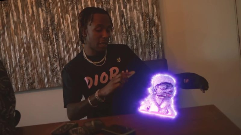"""Dior T-Shirt in """"4 Phones"""" by Rich The Kid (2019) Official Music Video Product Placement"""