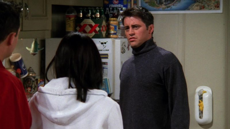 """Dos Equis XX Beer in Friends Season 5 Episode 16 """"The One with the Cop"""" (1999) - TV Show Product Placement"""