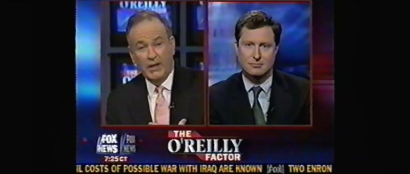 FOX News The O'Reilly Factor Talk show in Vice (2018) Movie Product Placement