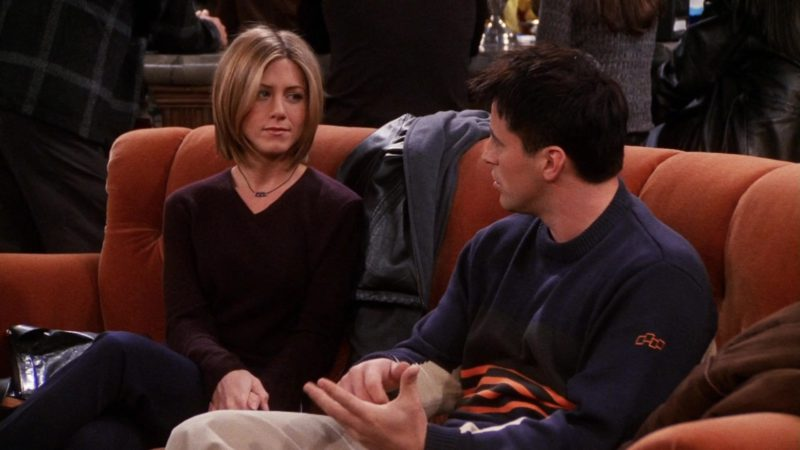 "Foursquare Sweater Worn by Matt LeBlanc (Joey Tribbiani) in Friends Season 7 Episode 7 ""The One With Ross' Library Book"" (2000) TV Show Product Placement"