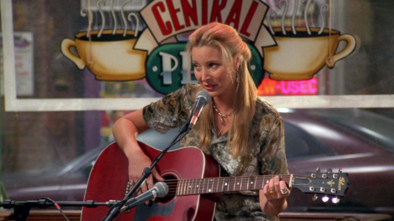 "Gibson Acoustic Guitar Used by Lisa Kudrow (Phoebe Buffay) in Friends Season 4 Episode 5 ""The One with Joey's New Girlfriend"" (1997) - TV Show Product Placement"
