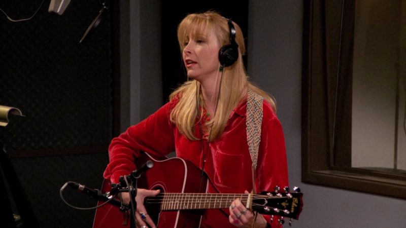 "Gibson Guitar Used by Lisa Kudrow (Phoebe Buffay) in Friends Season 2 Episode 17 ""The One Where Eddie Moves In"" (1996) - TV Show Product Placement"