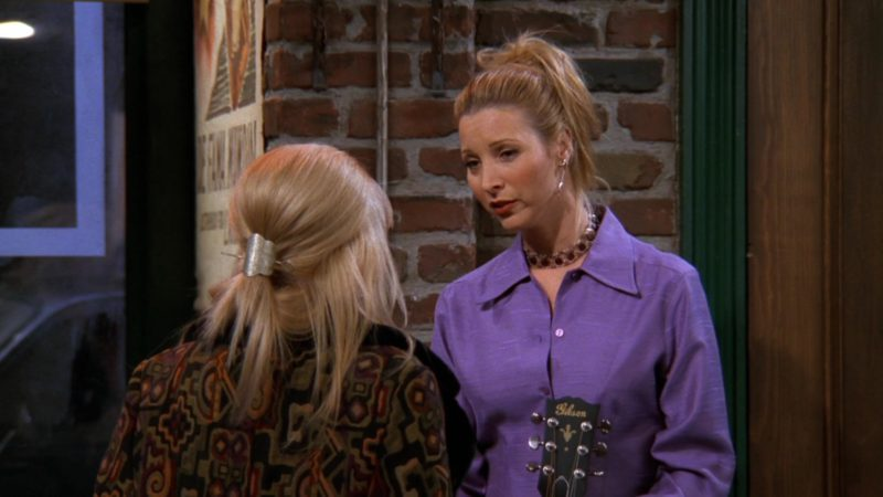 "Gibson Guitar Used by Lisa Kudrow (Phoebe Buffay) in Friends Season 3 Episode 14 ""The One with Phoebe's Ex-Partner"" (1997) - TV Show Product Placement"