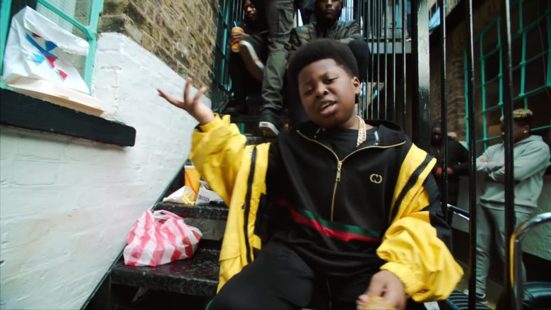 "Gucci Boys Jacket in ""Boasty"" by Wiley, Sean Paul, Stefflon Don & Idris Elba (2019) - Official Music Video Product Placement"
