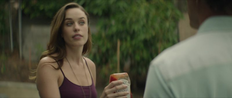 Heinz Ketchup Held by Jessica McNamee in The Neighbor (2018) - Movie Product Placement