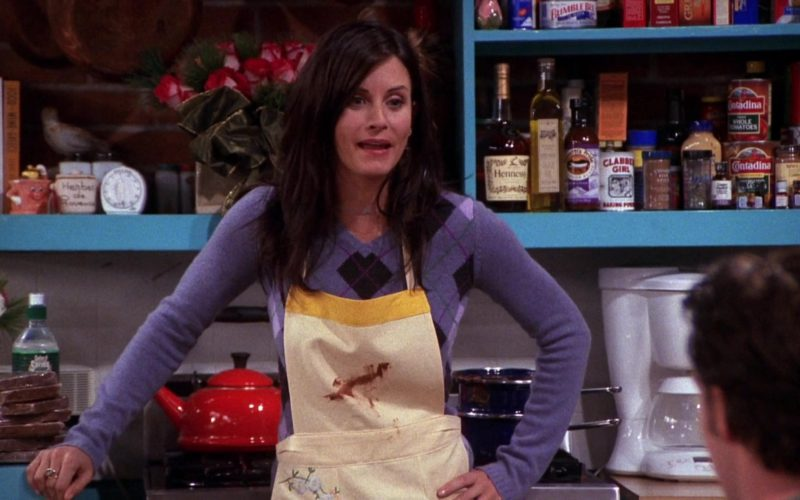 Hennessy Cognac, Contadina Tomatoes, Clabber Girl in Friends Season 7 Episode 9