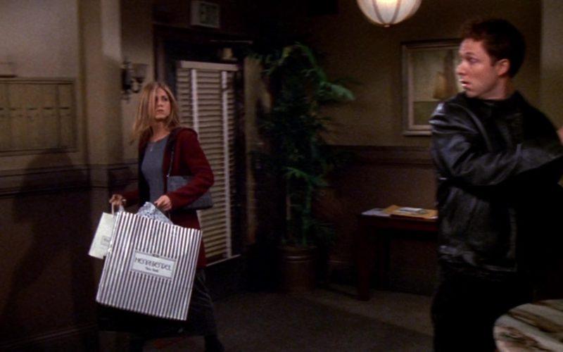 Henri Bendel Store Paper Bag Held by Jennifer Aniston (Rachel Green) in Friends Season 5 Episode 6 (1)