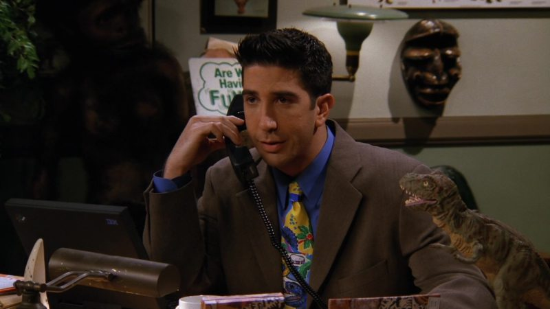 """IBM Laptop Used by David Schwimmer (Ross Geller) in Friends Season 3 Episode 12 """"The One With All the Jealousy"""" (1997) TV Show Product Placement"""