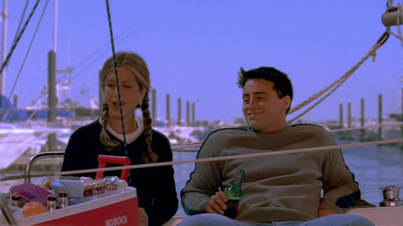 "Igloo Cooler Used by Jennifer Aniston (Rachel Green) & Matt LeBlanc (Joey Tribbiani) in Friends Season 7 Episode 3 ""The One With Phoebe's Cookies"" (2000) TV Show"