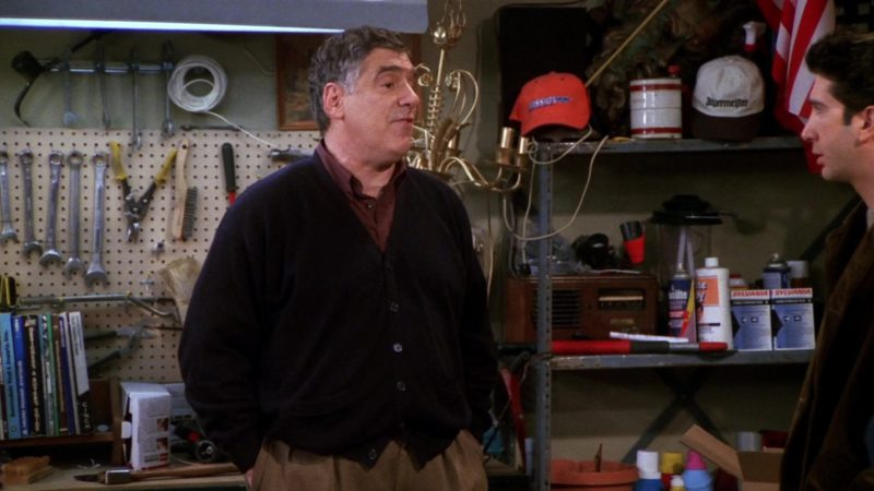 """Jägermeister White Cap and Sylvania in Friends Season 7 Episode 13 """"The One Where Rosita Dies"""" (2001) - TV Show Product Placement"""