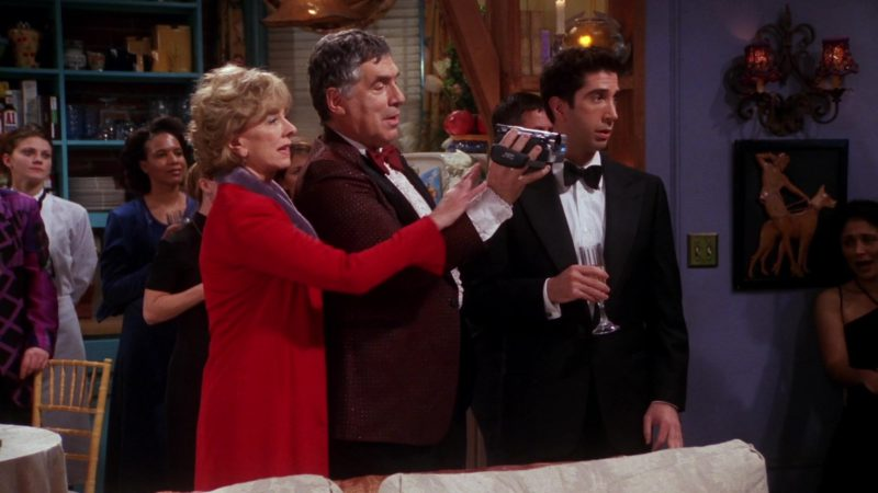 """JVC Camcorder Used by Elliott Gould (Jack Geller) in Friends Season 7 Episode 14 """"The One Where They All Turn Thirty"""" (2001) - TV Show Product Placement"""