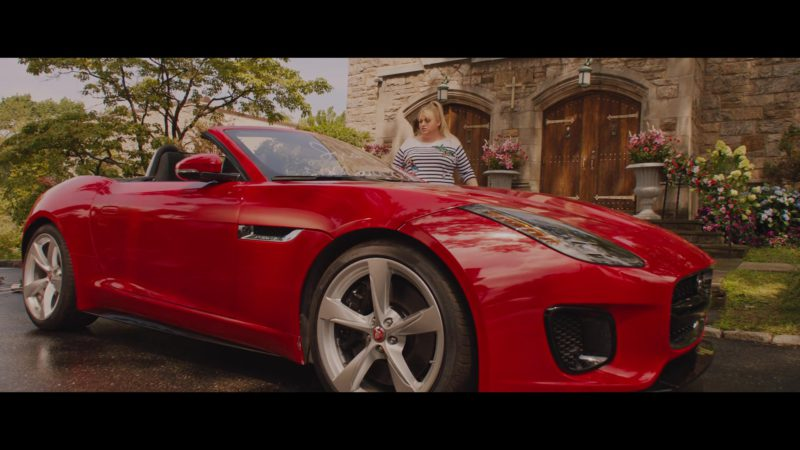 Jaguar F-Type Convertible Red Sports Car in Isn't It Romantic (2019) Movie Product Placement