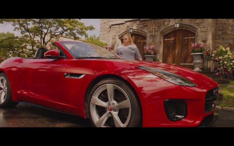 Jaguar F-Type Convertible Red Sports Car in Isn't It Romantic (1)