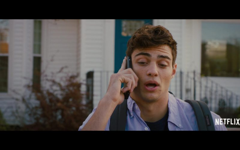 JanSport Backpack Worn by Noah Centineo in The Perfect Date (2)
