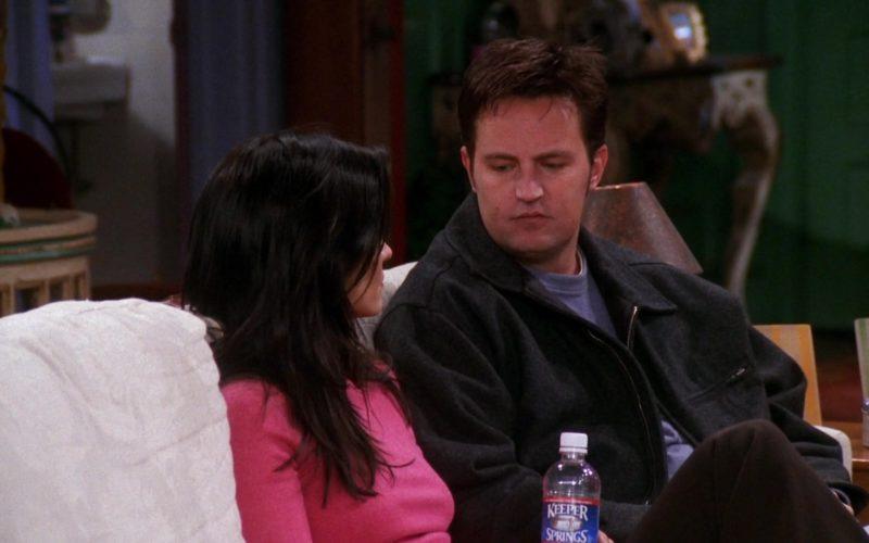 Keeper Springs Mineral Water Bottle Held by Courteney Cox (Monica Geller) in Friends Season 7 Episode 17 (1)